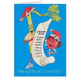 """Stygga blått eller Crunchy"""" julkort Hälsningskort"""