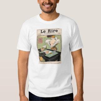 Stygga humoristic tidning för fransk 1901 tshirts