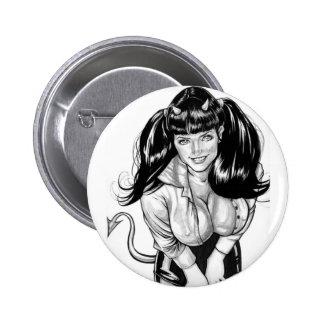 Styggt eller trevligt? standard knapp rund 5.7 cm