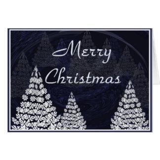 Stylised julgranar hälsningskort