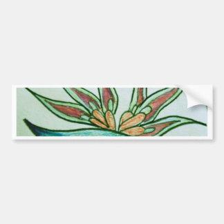 Stylised tropisk blomma bildekal