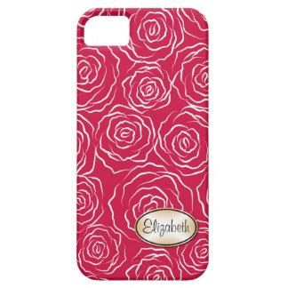 Stylized fodral för iPhone 5 för roträdgårdmönster iPhone 5 Case-Mate Cases