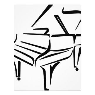 Stylized piano brevhuvud