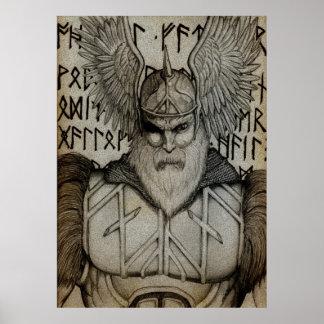 Styra av runorna poster