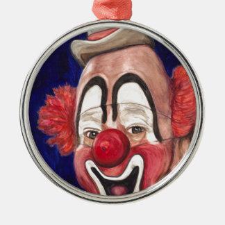Styra clownen Lou Jacobs Rund Silverfärgad Julgransprydnad