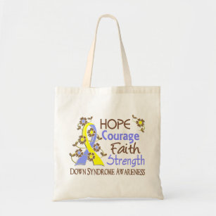 Styrka 3 Down Syndrome för hoppkuragetro Tygkasse