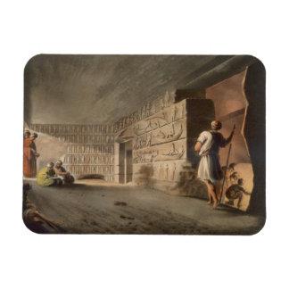 Subterranean kammare nära pyramiderna på Geeza, p Magnet
