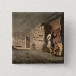 Subterranean kammare nära pyramiderna på Geeza, p Standard Kanpp Fyrkantig 5.1 Cm