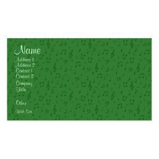 Subtil musik noter i grön visitkort