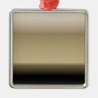 Subtilt skuggar av beige för att svärta den Ombre Julgransprydnad Metall