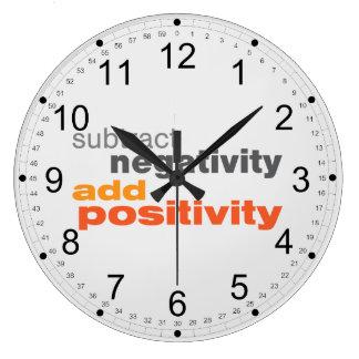 Subtrahera Negativity och tillfoga Positivity Stor Klocka