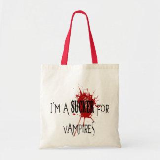 Sucker för vampyrer - budget- toto tote bags
