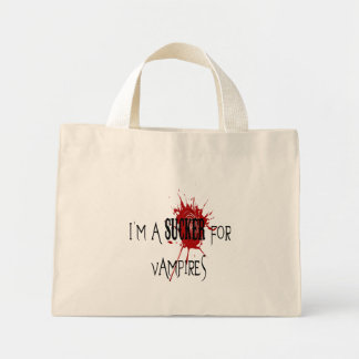 Sucker för vampyrer - mycket liten toto mini tygkasse