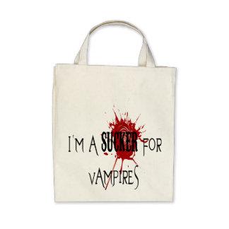 Sucker för vampyrer - organisk livsmedeltoto tote bags