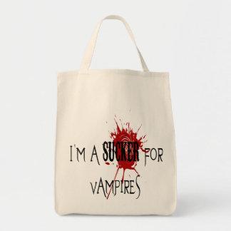 Sucker för vampyrer - organisk livsmedeltoto mat tygkasse