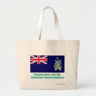 Südgeorgien u Süd-Sandwichinseln Flagge mit Namen Tygkasse