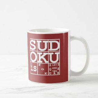 Sudoku är för kvadrerar kaffemugg