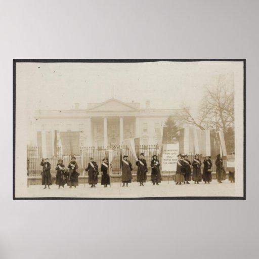 Suffragettesmarsch på Washington Print