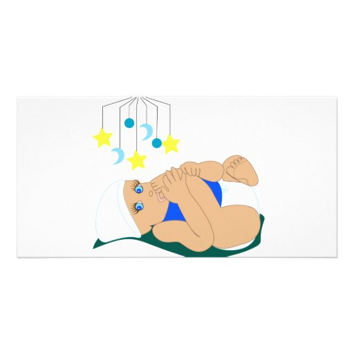 Sugande Toe för baby Anpassade Foto Kort
