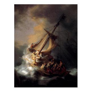 Summarisk beskrivning en av Rembrandt Harmenszoon Vykort