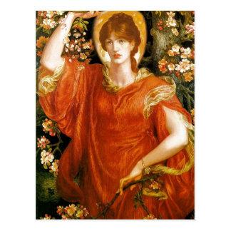 Summariska Dante Gabriel Rossetti en vision av Vykort