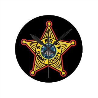 Summit County Ohio sheriffklocka Rund Klocka