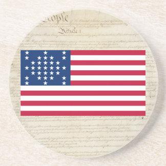 """Sumter för United States 33 stjärna""""fort"""" flagga Underlägg Sandsten"""