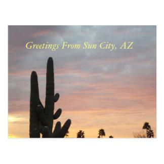 Sun City solnedgång 1 vykort