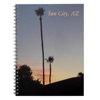Sun City solnedgångjournal 1 Anteckningsbok Med Spiral