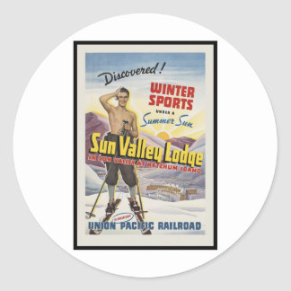 Sun Valley loge Idaho Runt Klistermärke