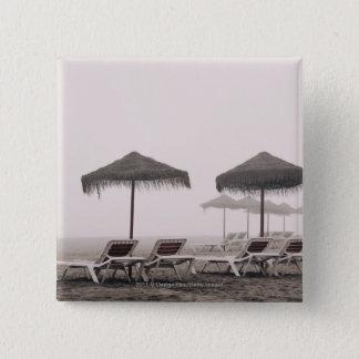 Sunbeds och paraply på den Playamar stranden Standard Kanpp Fyrkantig 5.1 Cm