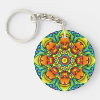 Sunburst   akryl Keychains, 6 stilar Dubbelsidigt Rund Akryl Nyckelring