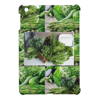 Sund grön lövrik cuisine för grönsaksalladkockar iPad mini mobil skydd