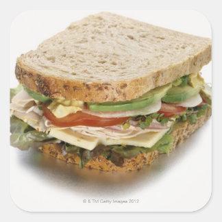 Sund smörgås fyrkantigt klistermärke