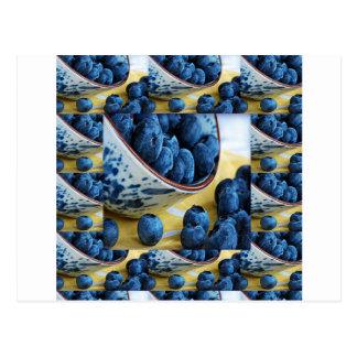 Sunda blåbärkockar bantar cuisinesallader vykort