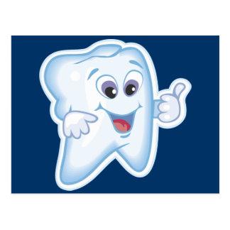 Sunda lyckliga tänder vykort
