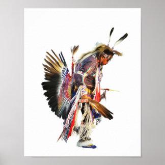 Sundancer - konstaffisch för indian 11x14 poster