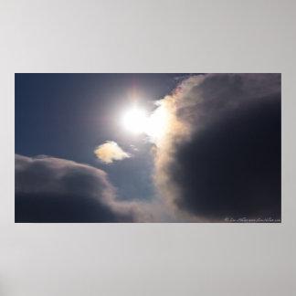 Sundogs - regnbågen fördunklar den Hot Springs nat Poster