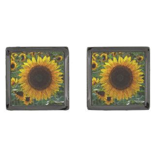 Sunflower_2015_0601 Manschetterknappar Med Metallgråfinish