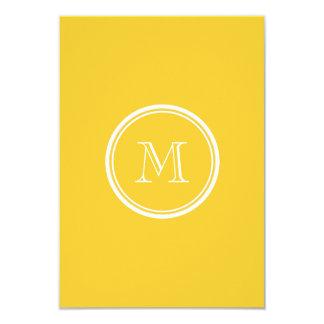 Sunglow avslutar den gula kicken kulört 8,9 x 12,7 cm inbjudningskort