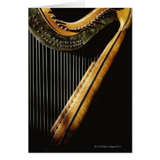 Sunlit harpa hälsningskort