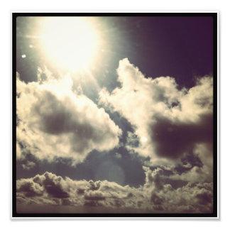 Sunlit moln foto
