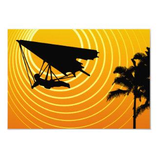 sunscenehängningglidning 8,9 x 12,7 cm inbjudningskort