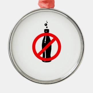 Sunt stag inget svart sodavatten julgransprydnad metall