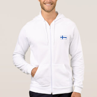 Suomalaisia takki - flagga av Finland Sweatshirt Med Luva