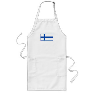 Suomen Lippu - flagga av Finland Långt Förkläde