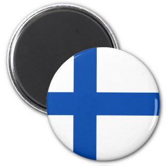 Suomen Lippu - flagga av Finland Magnet Rund 5.7 Cm