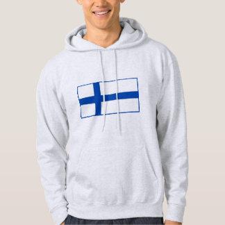 Suomen Lippu - flagga av Finland Sweatshirt Med Luva