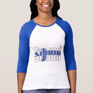 Suomi (Finland) flaggaT-tröja T-shirts