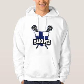 Suomi Finland Lacrosse Sweatshirt Med Luva